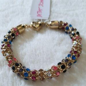 Betsey Johnson Funfetti Mesh Tube Bracelet